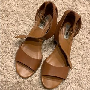 Steve Madden Estoria Block Sandal - Tan 9